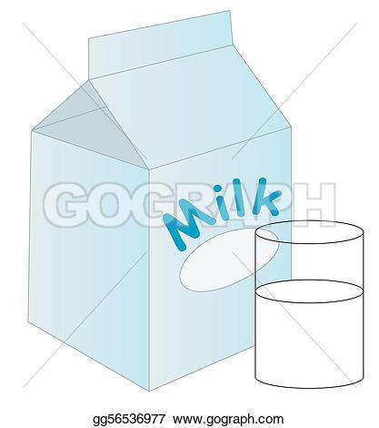 Art Illustration milk beside with