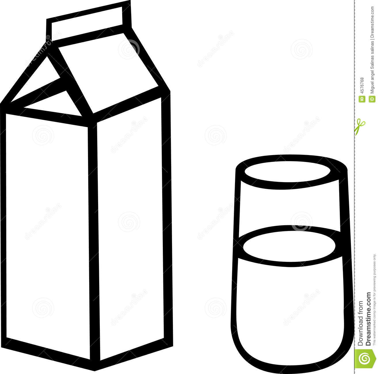 Milk Jug clipart glass drawing Clipart  carton And Collection