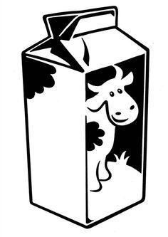 Milk Carton clipart school Carton Man Cow Coloring Milk