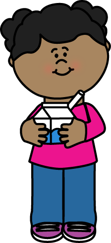 Milk Carton clipart school With Carton with Girl with