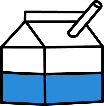Milk clipart Milk a school milk with