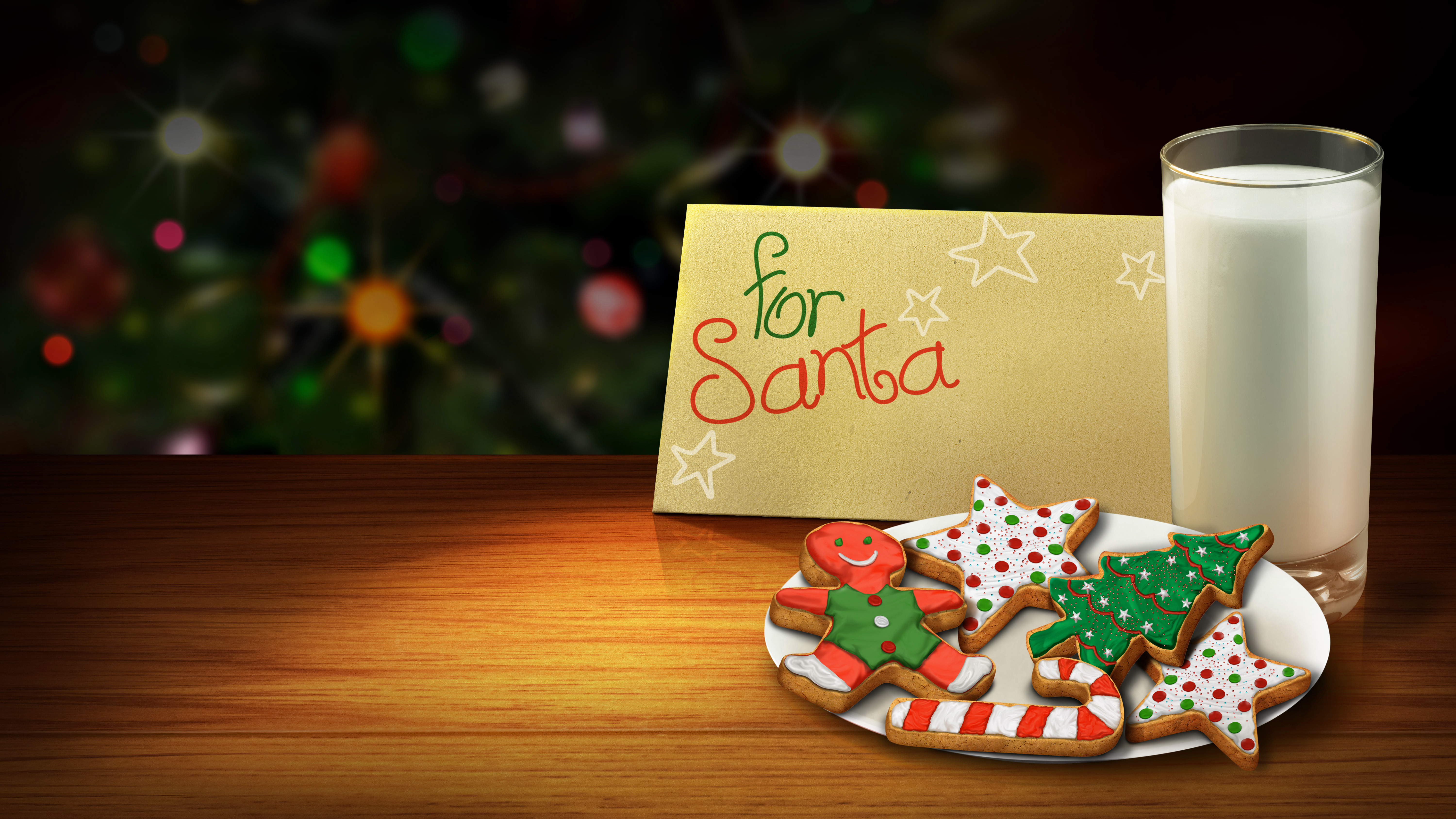 Santa clipart milk and cookie #15