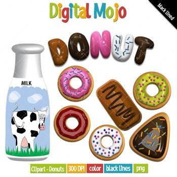 Word clipart donut Clipart etc Donuts best 60