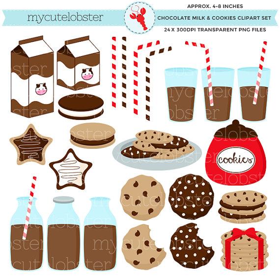 Chocolate clipart chocolate milk Clipart & Milk set Cookies