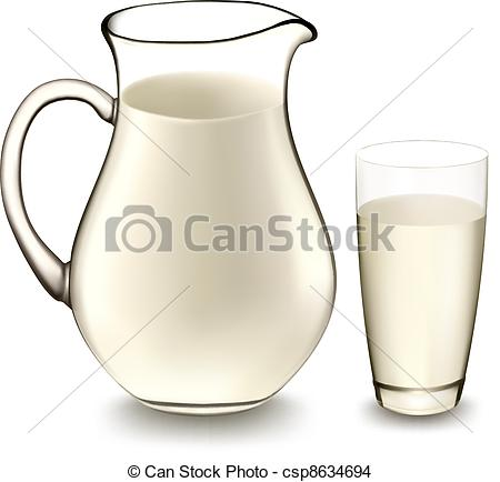 Milk Jug clipart glass drawing Illustration Vector and  csp8634694