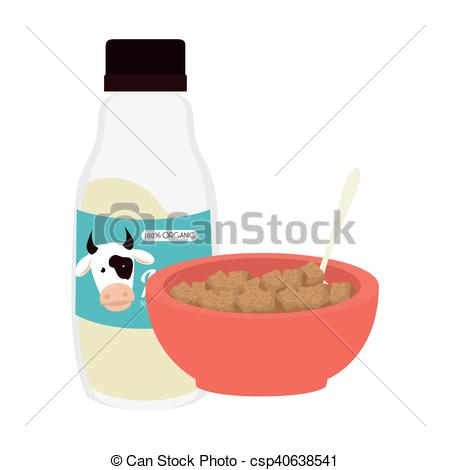 Milk Jug clipart milk cereal And bowl cereal Vector of