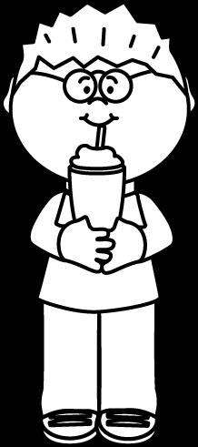 Milkshake clipart black and white #15