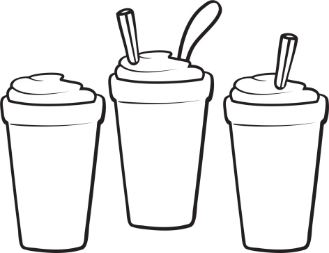 Smoothie clipart Black Cliparts Orange and white