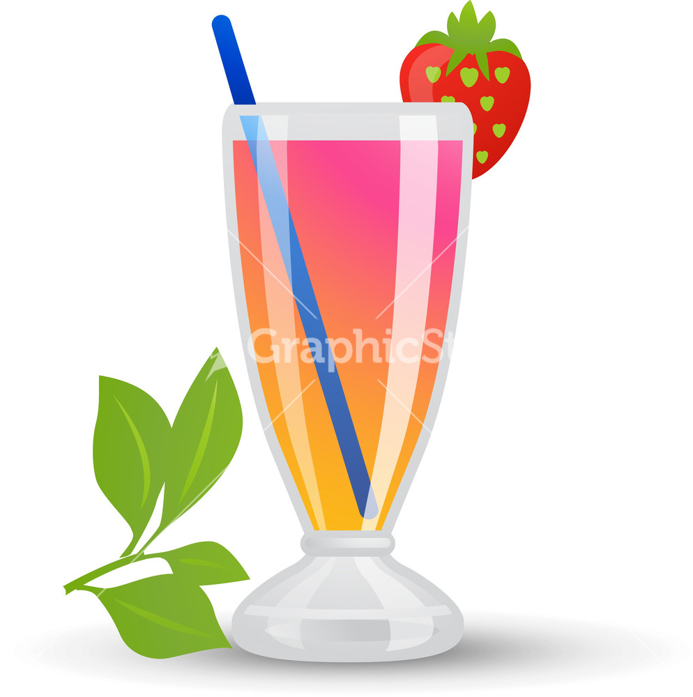 Milkshake clipart tropical cocktail #15