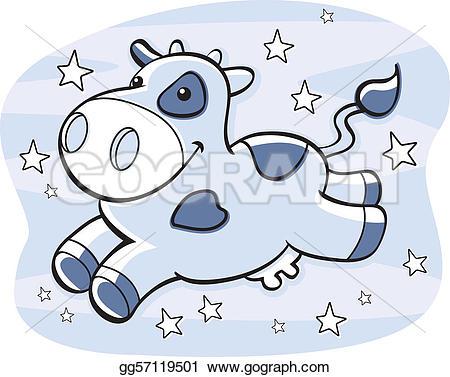 Milky Way clipart cartoon Cartoon EPS Clipart gg57119501 cow
