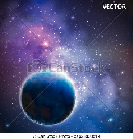 Nebula clipart milky way Space Clip outer Vector abstract