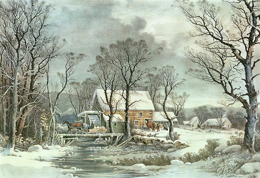 Mill clipart country scene And The art Winter Old