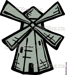 Windmill clipart dutch windmill #1