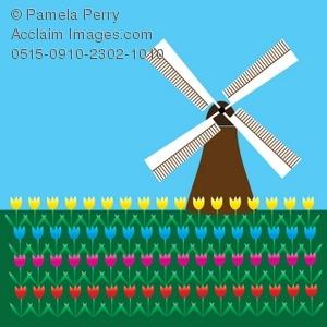 Windmill clipart dutch windmill Tulip Illustration Illustration in in