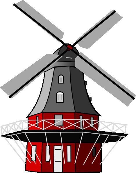 Windmill clipart dutch windmill Clker clip image Art