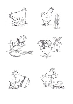 Mill clipart little red hen Hen Red Little Little+Red+Hen+Sequencing+Printables black