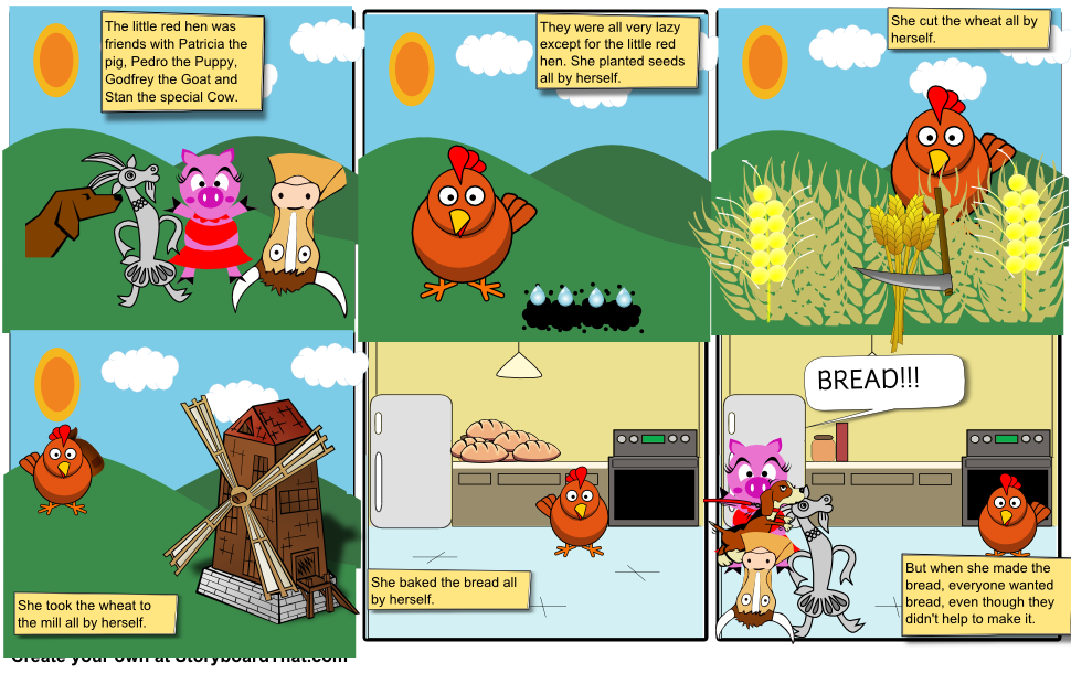 Mill clipart little red hen Storyboard eat_a_bagel 1 Choose Red