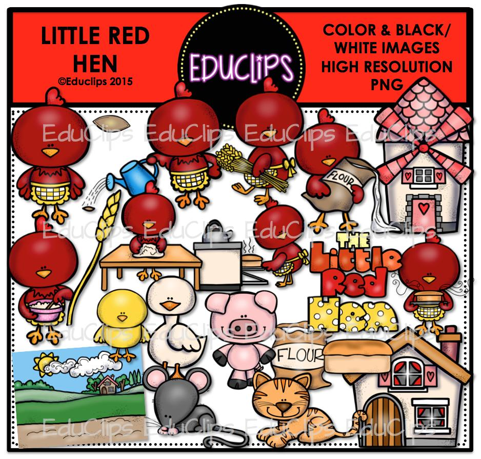Mill clipart little red hen (Color B&W)  Bundle Add