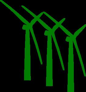 Windmill clipart wind turbine Green Clip com art Clker