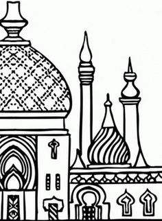 Temple clipart islamic Arabic Islamic Coloring Pages Coloring