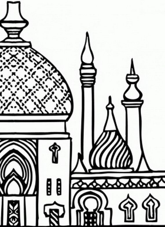 Temple clipart islamic Pinterest Islamic Illustration Pages Coloring
