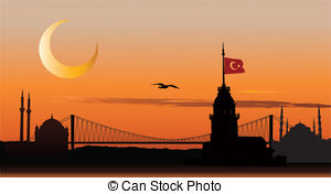 Minarets clipart istanbul Of mosque of Sunset Istanbul