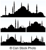 Minarets clipart istanbul Mosques and Clipart  silhouettes