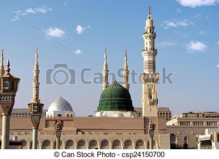 Minarets clipart istanbul Masjid  Dome and nabavi