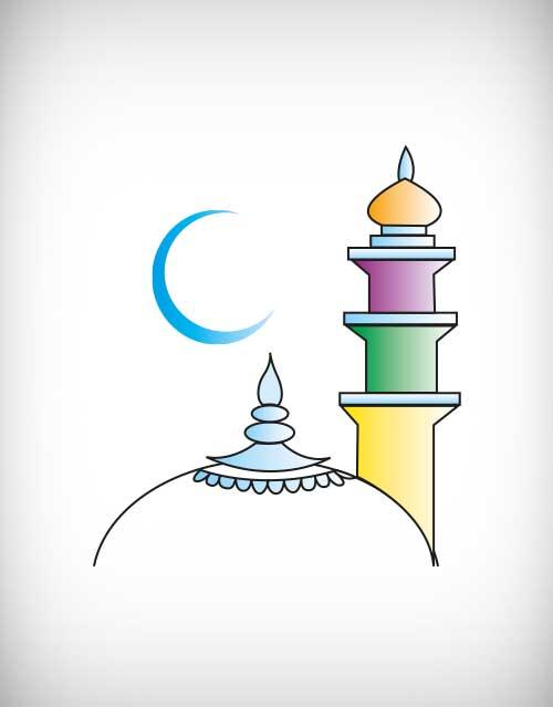 Dome clipart mosque minaret Mosque minaret islamic minar vector