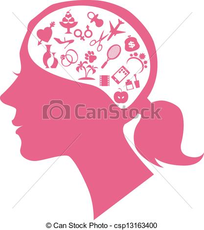 Mind clipart Female mind with csp13163400 filled