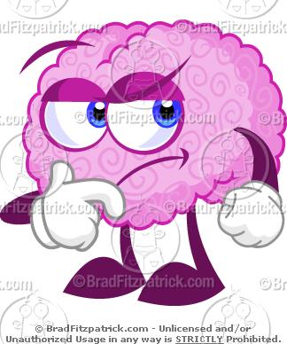Brains clipart cartoon Thinking Thinking! Brain Clipart a
