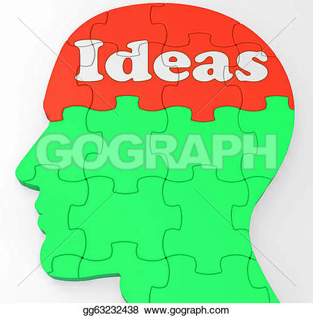 Mind clipart creativity Improvement improvement Stock Drawing or