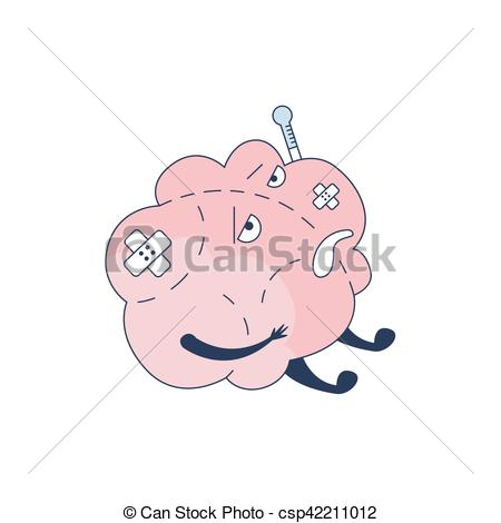 Mind clipart intellectual Vector Sick Comic And Thermometer