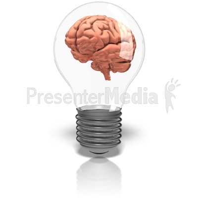 Bulb clipart brain  9184 Brainy ID# Great