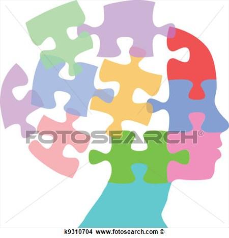 Puzzle clipart face #1