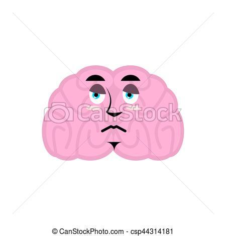 Brains clipart sad Sorrowful Isolated emotion Emoji brain