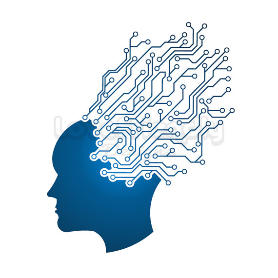 Technology clipart i think Mind of working Man Concept