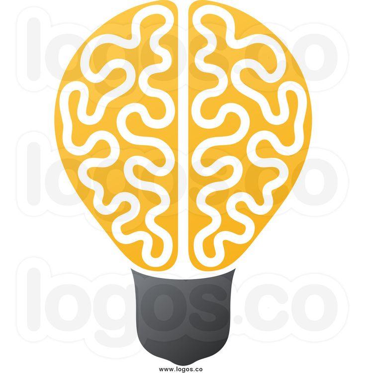 Brains clipart yellow #2
