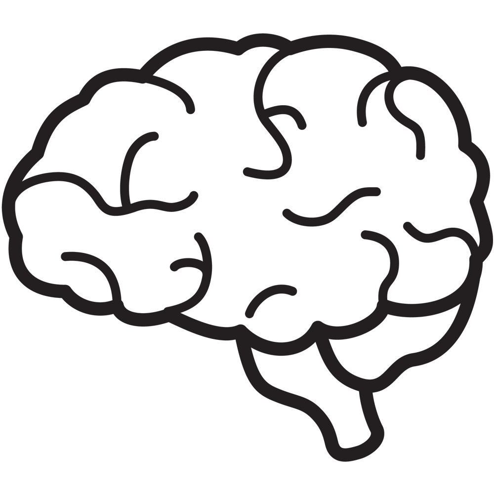 Drawn brain transparent background #9