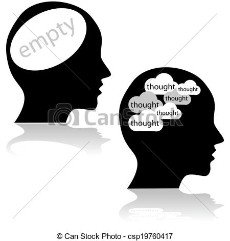 Mind clipart thought  illustration Empty Concept minds