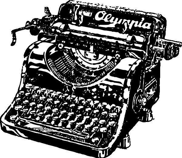 Drawn typewriter Fashioned Typewriter Clipart Clipart Old