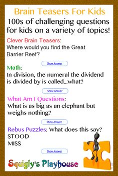 Mind Teaser clipart metacognition Thinking Kids Teasers child's Spur