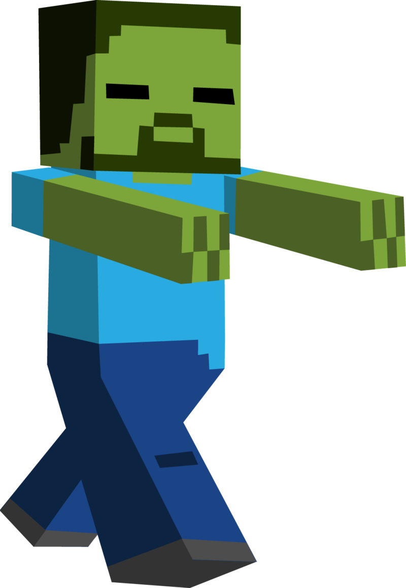 Zombie clipart cartoon character Minecraft My Minecraft Geeks Clipart