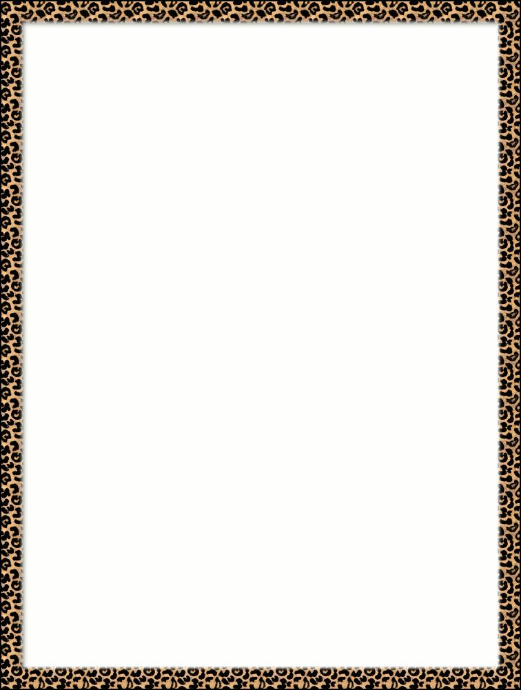Tiger Print clipart border #1