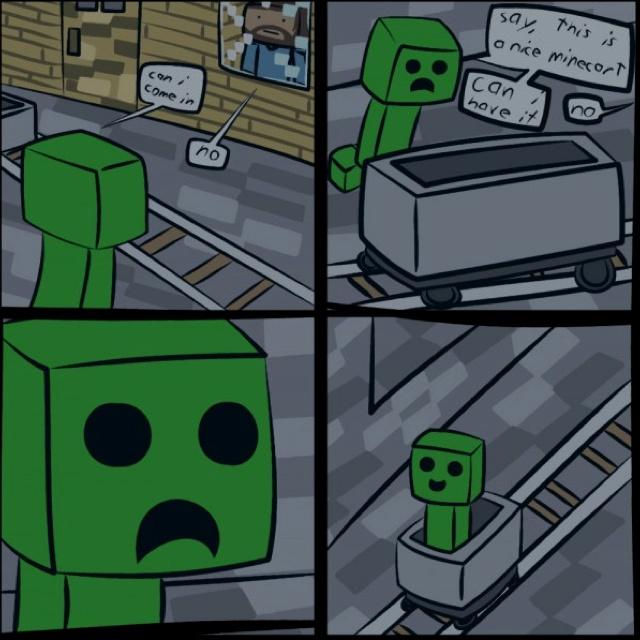 Minecraft clipart coal cart #11