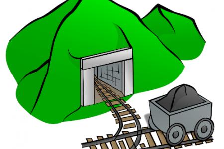 Minecraft clipart coal cart #7