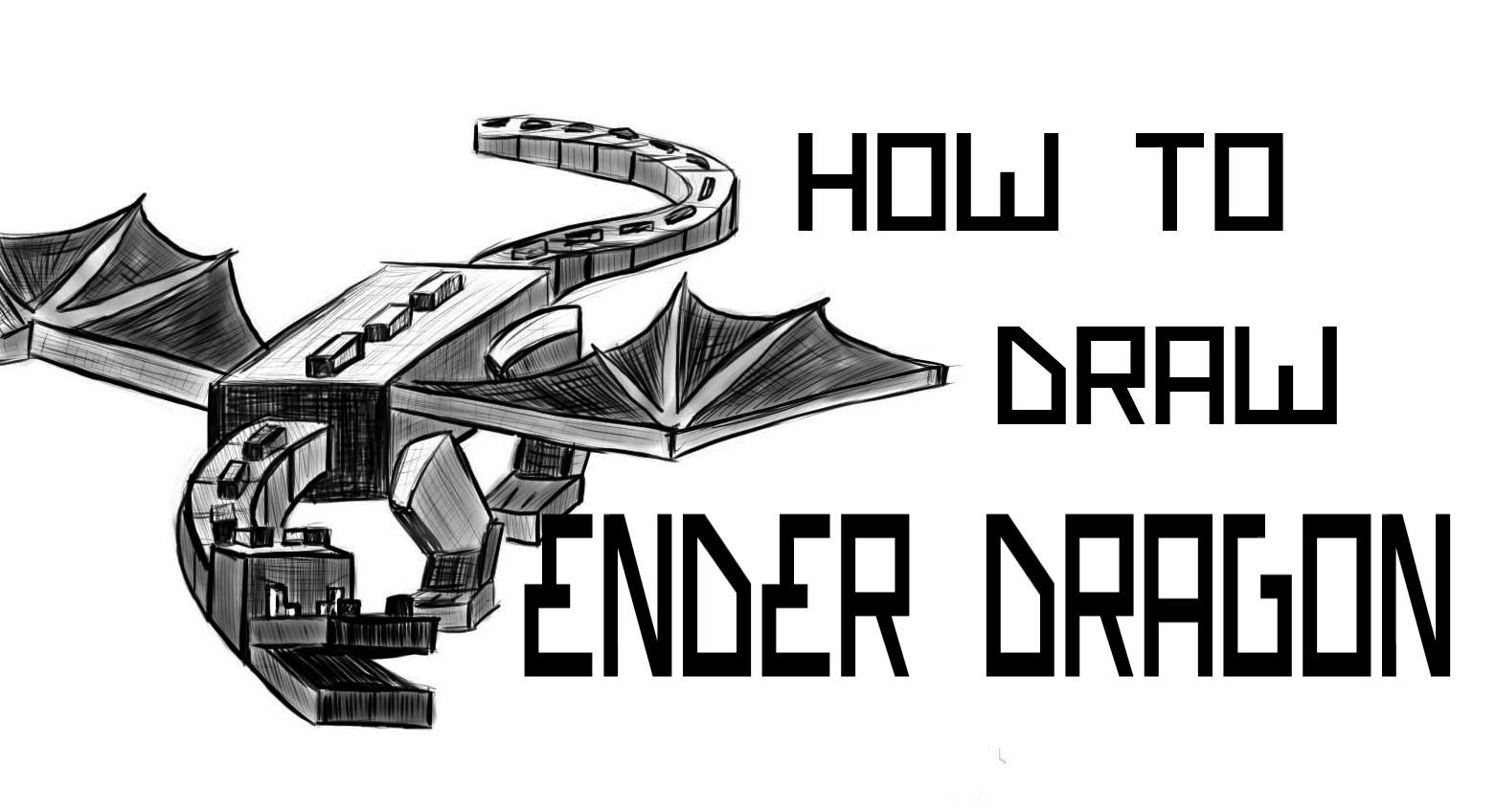 Drawn minecraft simple Ender 86 Dragon How YouTube