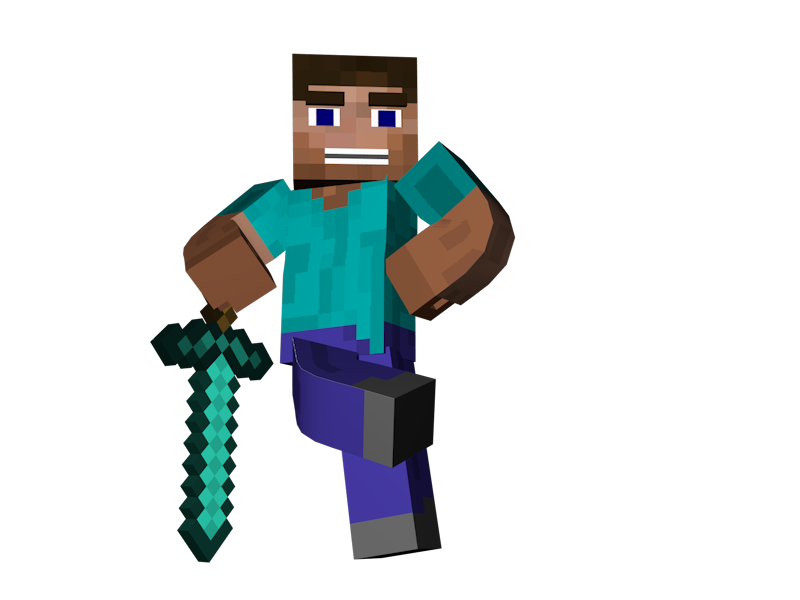 Minecraft clipart minecraft steve Images Clip Clipart Sword Free