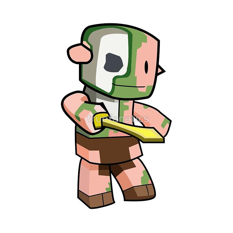 Minecraft clipart minecraft zombie Truefanatics Line Zombie Redbubble A