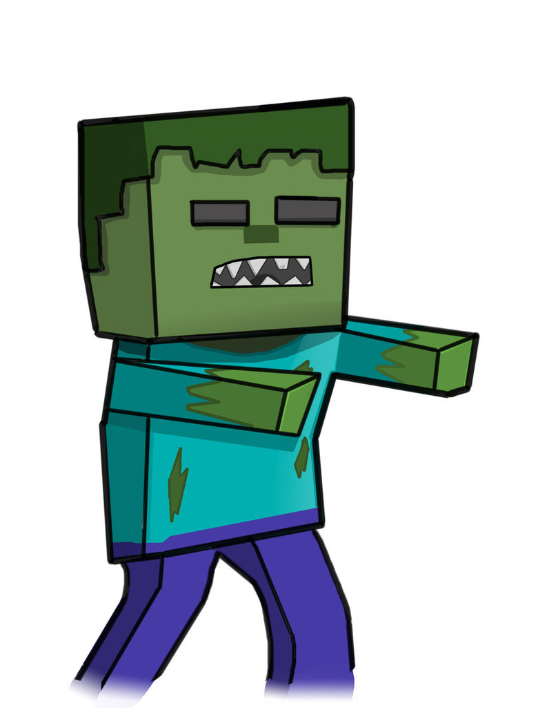 Minecraft clipart minecraft zombie (50+) zombie Clipart Zombie drawing